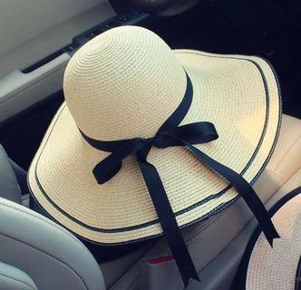 👒夏日百搭防曬編織帽👒大帽沿✌🏻折疊不變型