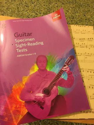 Guitar Grade 1-8 sight-Reading Tests + Music book
