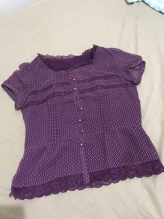 Purple Lacy Top
