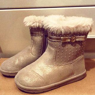 🚚 Michael Kors 正版小孩靴子 美國尺寸10號(9成新)