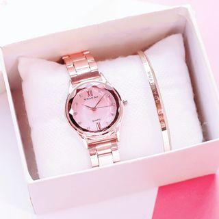 Women Luxury Mirror Alloy Strap Casual Business Watches