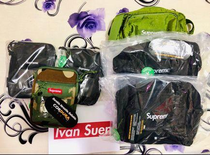 Supreme SS19 shoulder bag and pouch