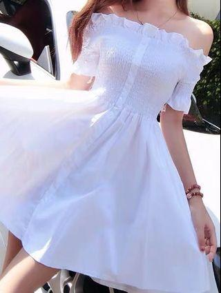 [RS] OFF SHOULDER WHITE DRESS #carouraya
