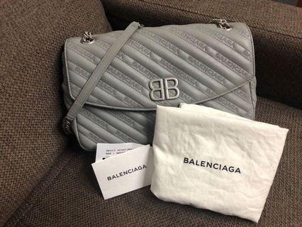 100%real 95%new balenciaga bb chain bag m size巴黎世家