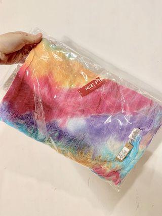 Ice fire rainbow scarf