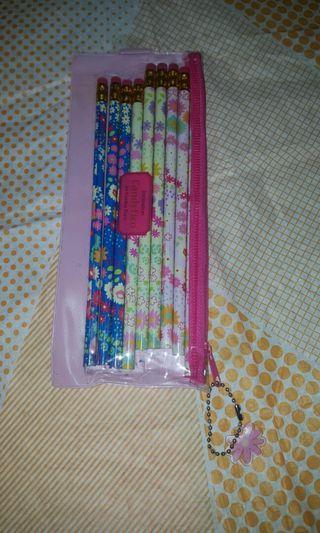 flower pinsil &pensil case