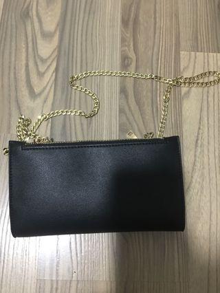 IORA Black wallet Mini sling / clutch