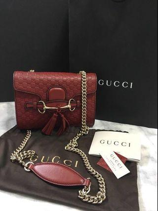 8b0d0f968c7c GUCCI Emily Mini Guccissima Leather Shoulder Bag