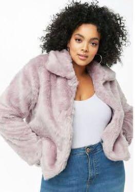 Forever 21 Plus Size Faux Fur Coat