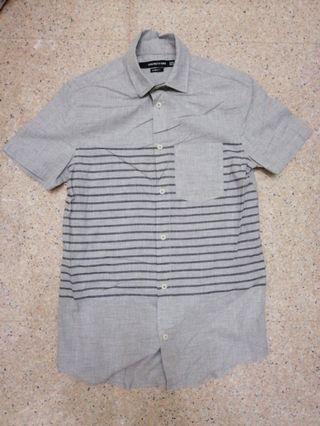 Cotton On Grey Striped Shirt