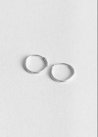 Instock! - Silver 14mm Hoop Circle earrings