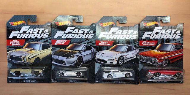 Hot Wheels Fast and Furious Set of 4