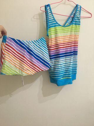 彩虹🌈泳衣整套