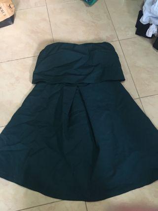 🚚 Forest Green Tube Dress