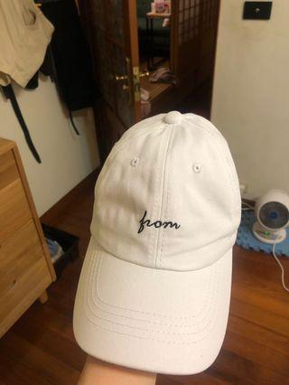 棒球帽 白 字母
