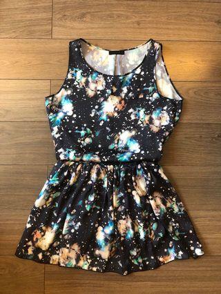 Jeanasis Galaxy Star Top and Skirt Set 日本品牌星空套裝
