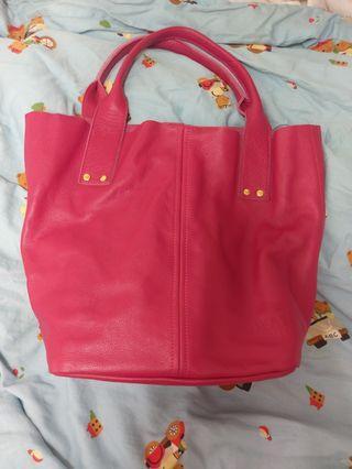 🚚 女性桃紅大包包