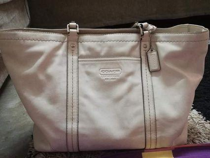 Coach Leather East/West Tote F13100
