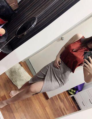 Missguided slit midi skirt