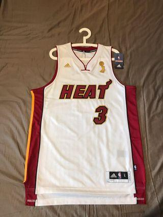 Adidas Dwyane Wade Miami Heat Jersey Champion Celebration Version