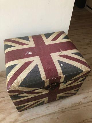 復古風 英國國旗 🇬🇧 收納箱 座位