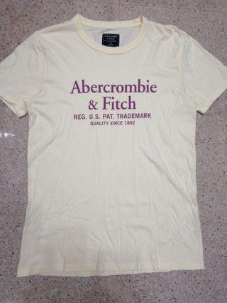 Abercrombie & Fitch Pale Yellow Tee
