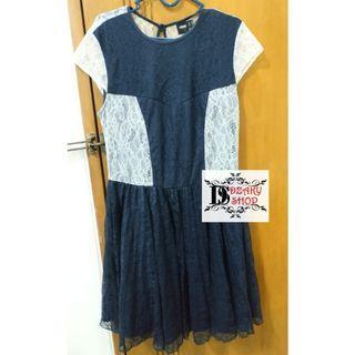 Mididress #mauthr#preloved#lace skater dress