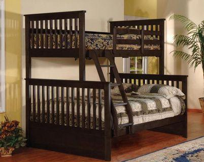 Brand new in box solid wood single/double bunk bed