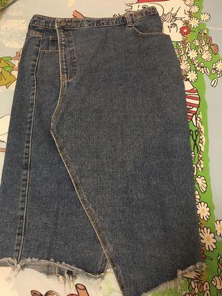 牛仔裙 (denim skirt)