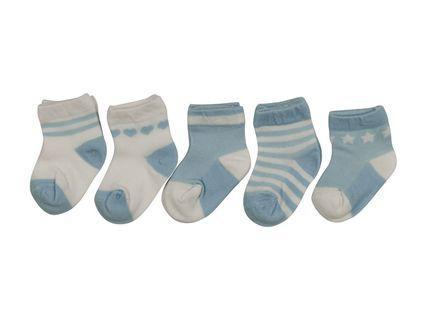 Baby Boy Newborn Socks Brand New 5 Pcs Pack