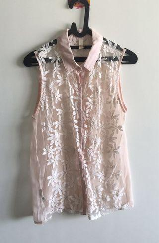 Soft Pink Lace Top #mauTHR