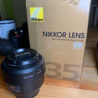 Nikon afs Dax 35mm f1.8g