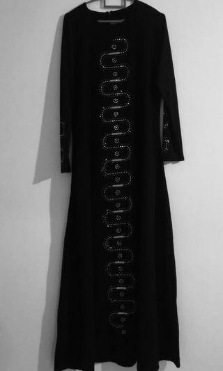 🚚 BN Black Jubah with Sequins