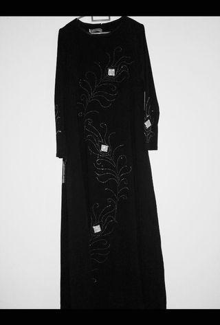 BN Black Jubah with Sequins