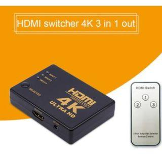 🚚 HDMI Switch 3 in 1 out with Remote Control
