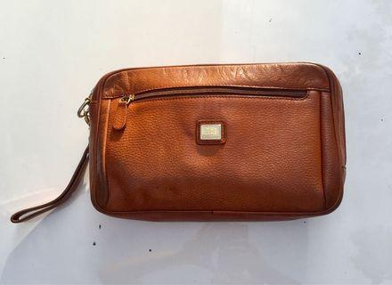 Burberry's leather clutch bag