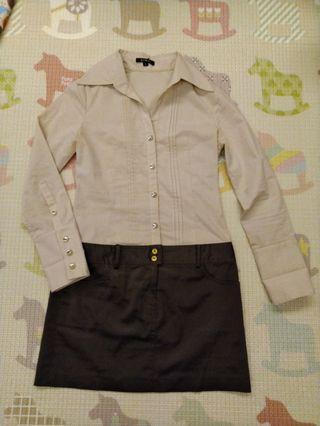 🚚 假2件長袖洋裝/S
