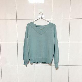 GU淺藍色針織毛衣