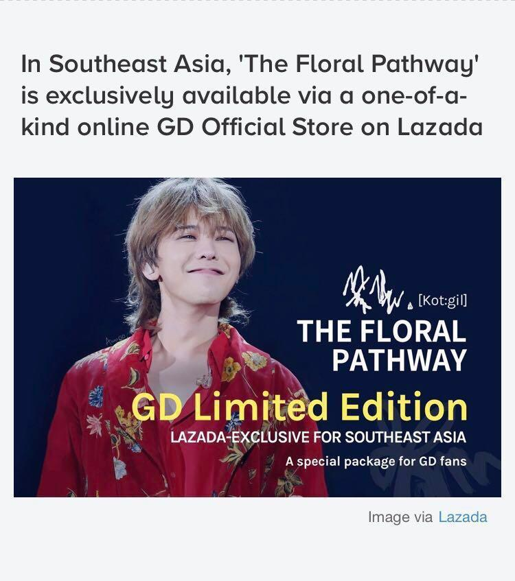 A gift from G-Dragon Limited Edn The Floral Pathway #paradigm
