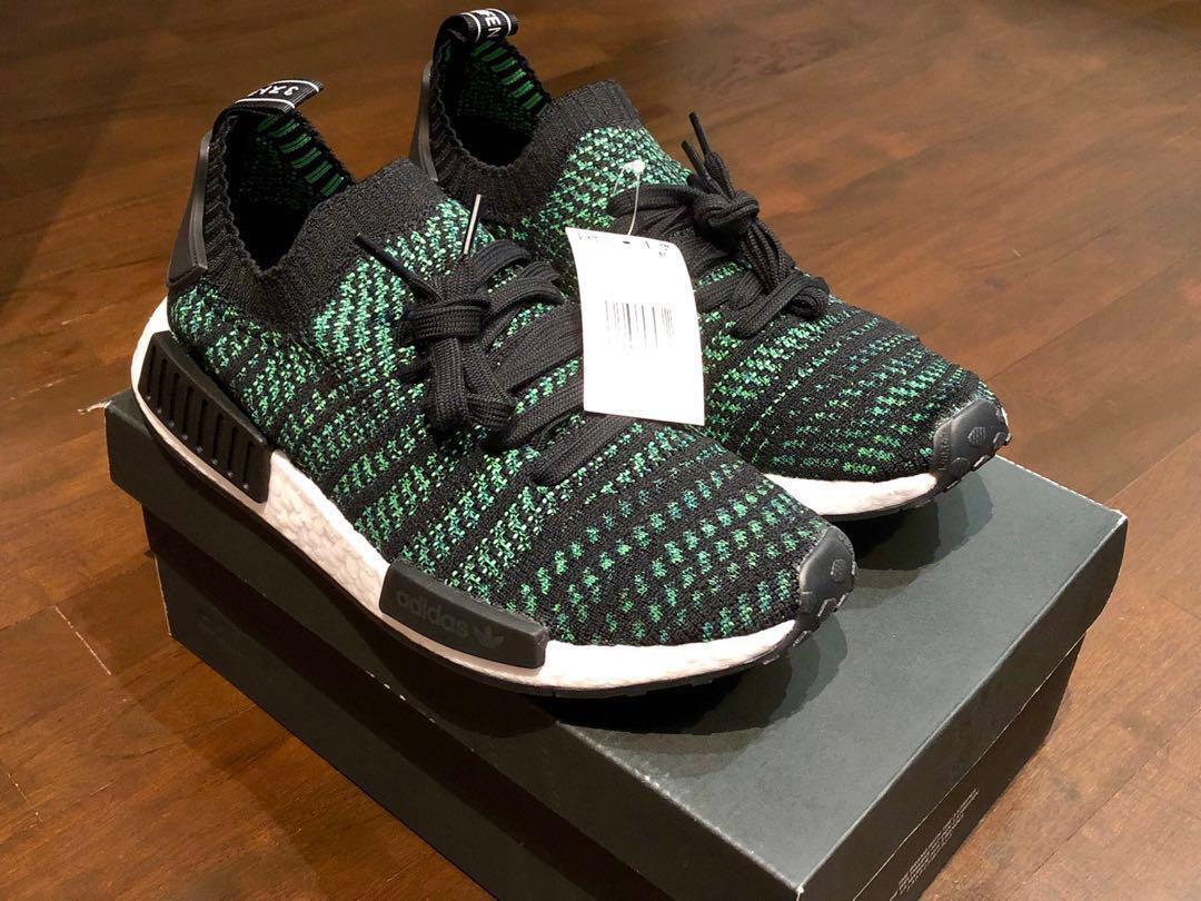 official photos 34e64 31a85 Adidas NMD R1 STLT PK Core Black/Noble Green, Men's Fashion ...