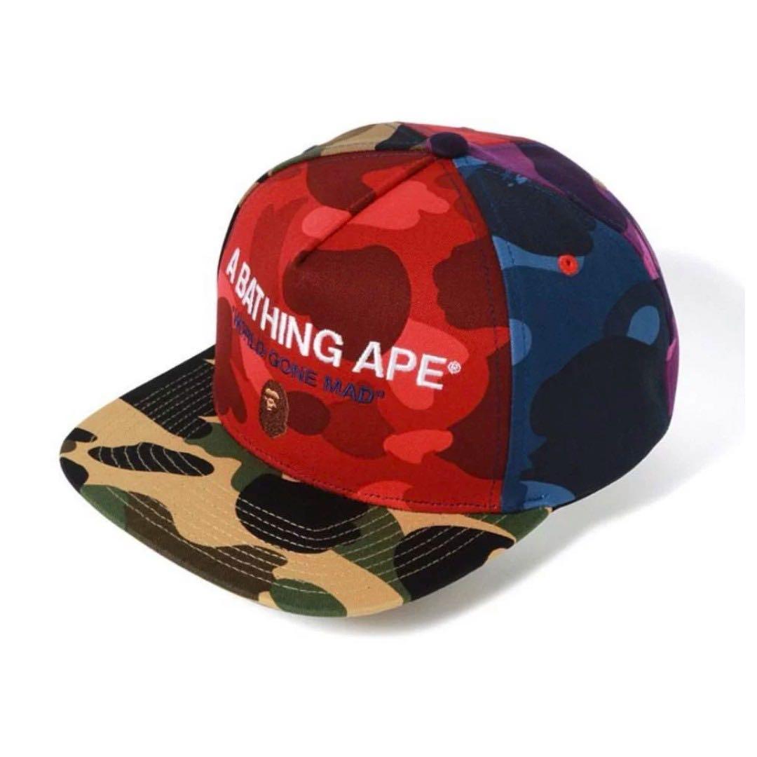 309ee65d BAPE MIX CAMO CRAZY SNAPBACK CAP, Men's Fashion, Accessories, Caps & Hats  on Carousell