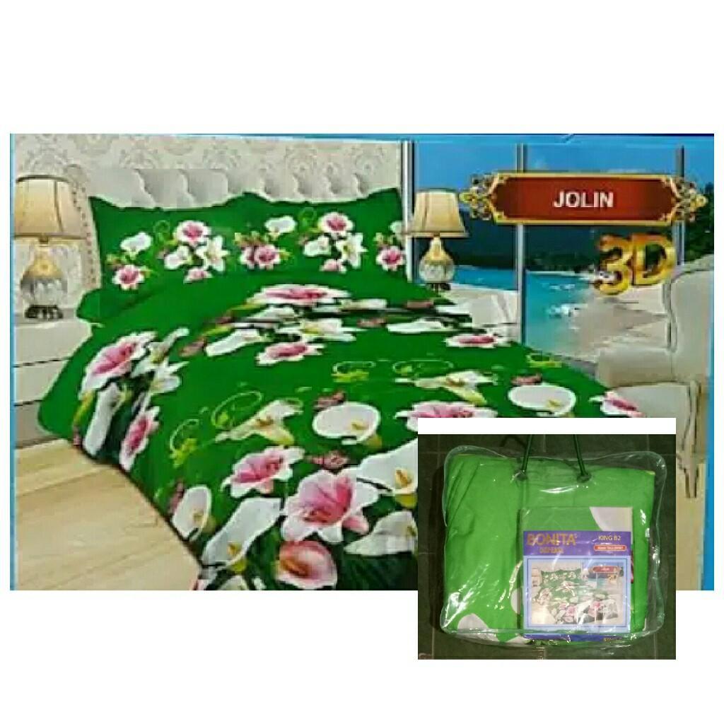 Bed Cover Flat Bonita Ukuran 220x220 Motif Jolin
