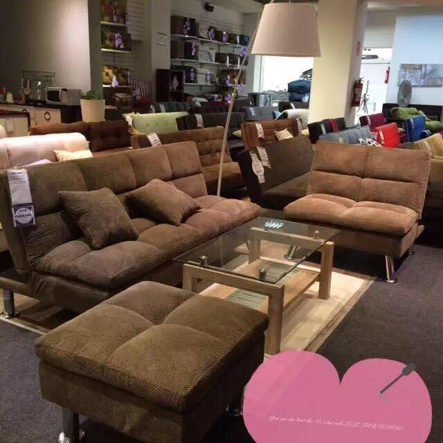Brand new in box 3 pcs sofa bed, chair and ottomon