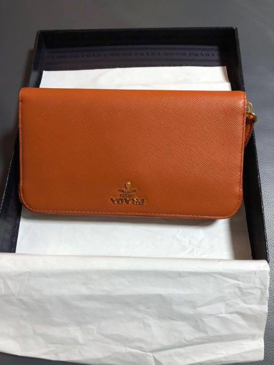 Brand new Prada zip Long wallet