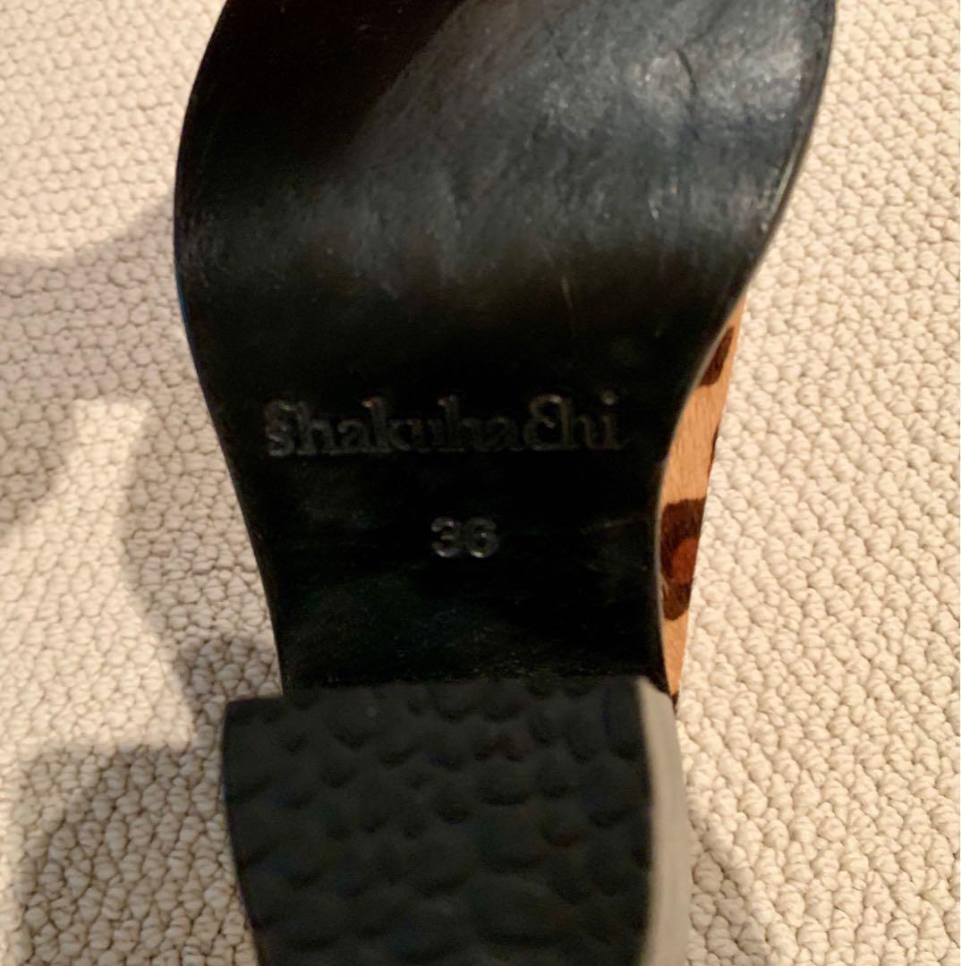 Brand new rare Shakuhachi leopard print boots heels size 36 RRP$500