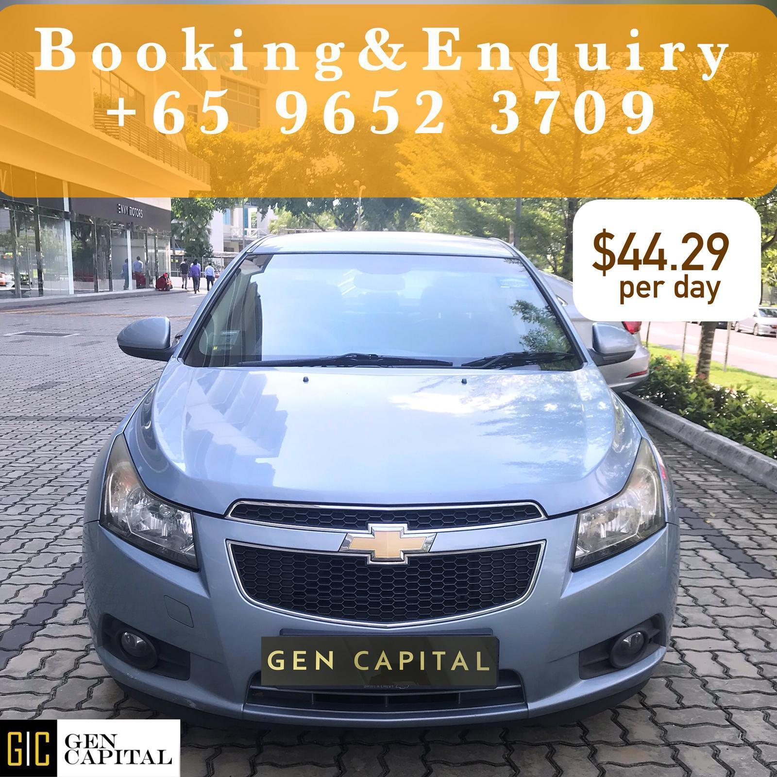 Chevrolet Cruze 1.6A Grab Gojek Ryde Tada & Non PHV Car Rental in Singapore!