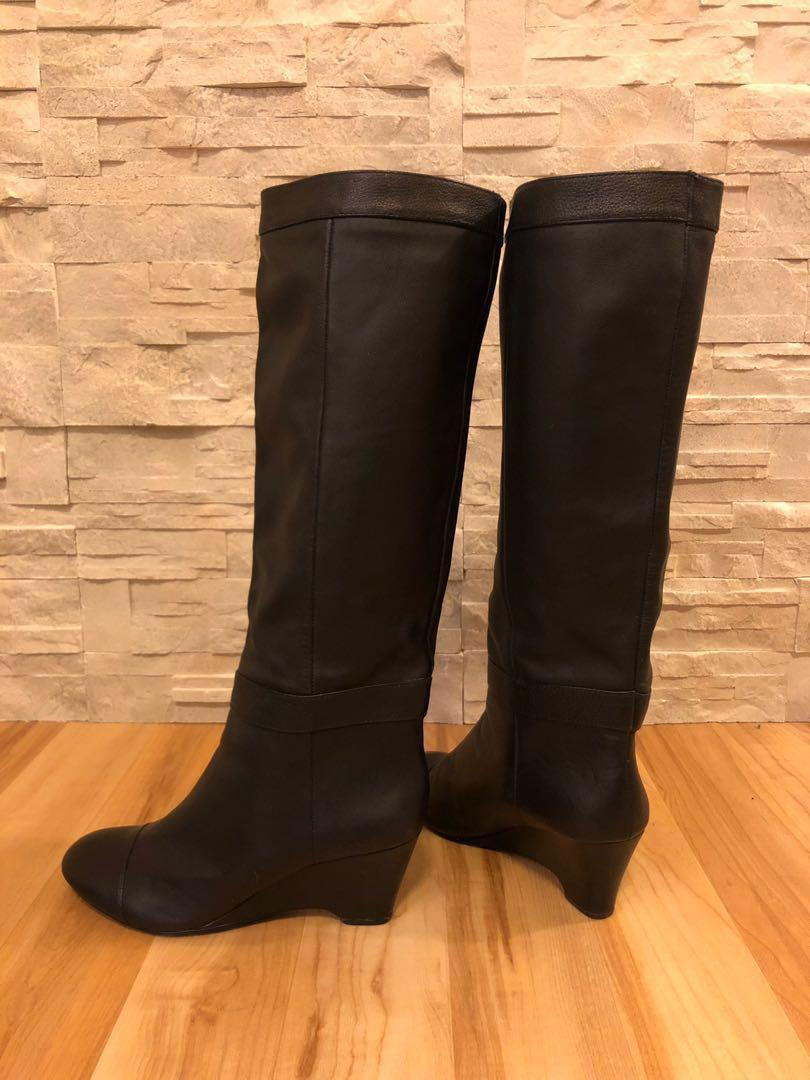 Cynthia Rowley Black Leather Boots Size 9.5 40