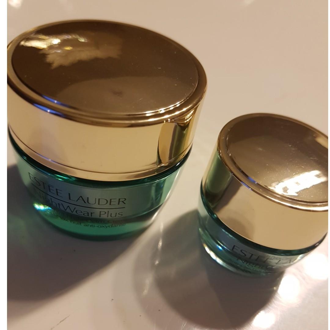 ESTEE LAUDER NightWear Plus Anti- Oxidant Night Detox Creme x 2. 15ml & 5ml. NEW