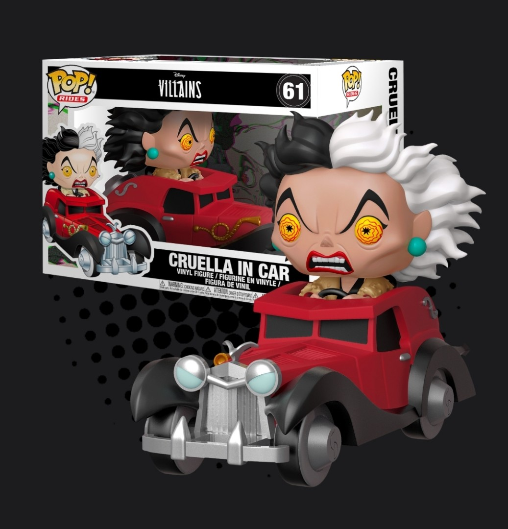 Funko Pop 101 Dalmatians Cruella De Vil In Car Pop Rides Toys