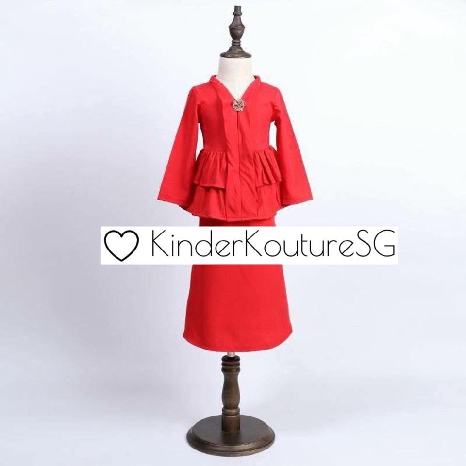 Girls kebaya peplum (2 colours)